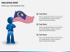 Malaysia map PPT slide 24