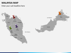 Malaysia map PPT slide 3