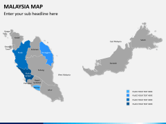 Malaysia map PPT slide 8