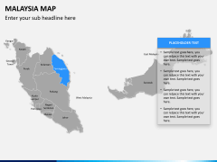 Malaysia map PPT slide 9