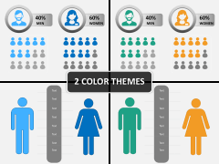 Male Female Icons PPT cover Slide