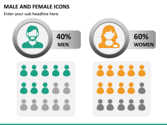 Male Female Icons PPT Slide 9