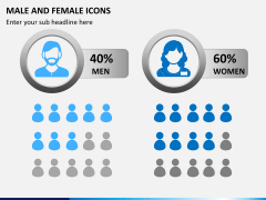 Male Female Icons PPT Slide 1