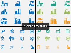 Manufacturing icons PPT cover slide