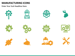 Manufacturing icons PPT slide 8