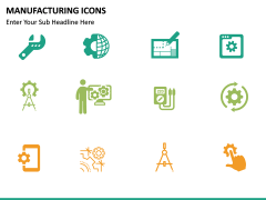 Manufacturing icons PPT slide 9