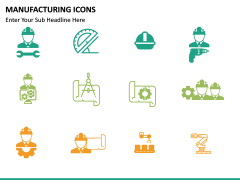Manufacturing icons PPT slide 10
