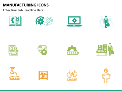 Manufacturing icons PPT slide 11