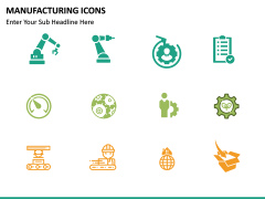 Manufacturing icons PPT slide 12