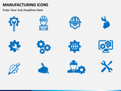 Manufacturing icons PPT slide 2