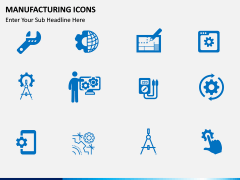 Manufacturing icons PPT slide 3