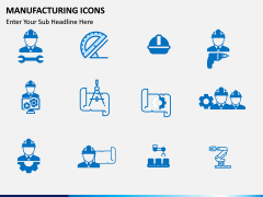 Manufacturing icons PPT slide 4