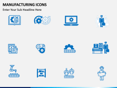 Manufacturing icons PPT slide 5
