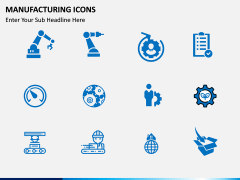 Manufacturing icons PPT slide 6