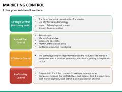 Marketing control PPT slide 13