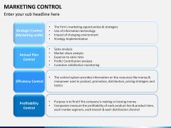 Marketing control PPT slide 1