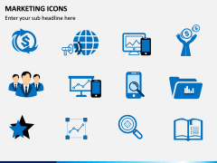 Marketing Icons PPT slide 1