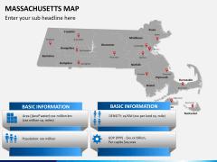 Massachusetts map PPT slide 13