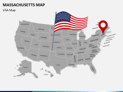 Massachusetts map PPT slide 7