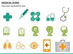 Medical icons PPT slide 9