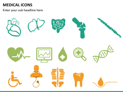 Medical icons PPT slide 10