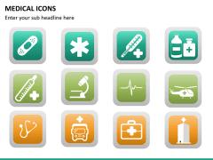 Medical icons PPT slide 15