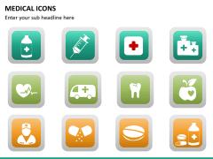 Medical icons PPT slide 16