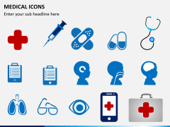 Medical icons PPT slide 1