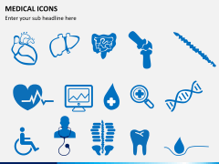 Medical icons PPT slide 2