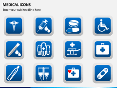 Medical icons PPT slide 4