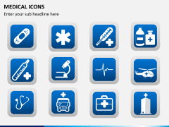 Medical icons PPT slide 7