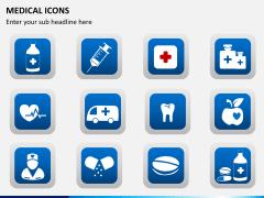 Medical icons PPT slide 8