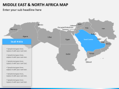 Middle east and north africa map PPT slide 11