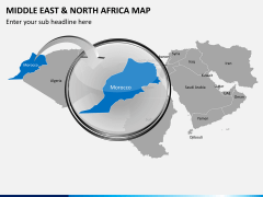 Middle east and north africa map PPT slide 12