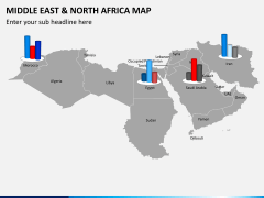 Middle east and north africa map PPT slide 13