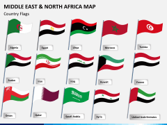 Middle east and north africa map PPT slide 15