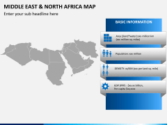 Middle east and north africa map PPT slide 4