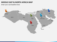 Middle east and north africa map PPT slide 7