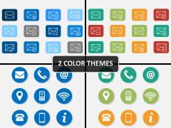 Messaging icons PPT cover slide