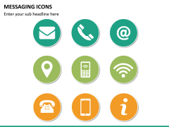 Messaging icons PPT slide 4