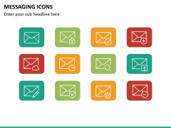 Messaging icons PPT slide 5