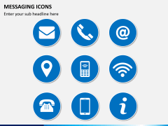 Messaging icons PPT slide 1