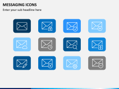 Messaging icons PPT slide 2