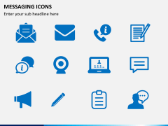 Messaging icons PPT slide 3