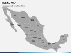 Mexico map PPT slide 1