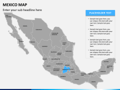 Mexico map PPT slide 10