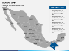Mexico map PPT slide 11