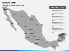 Mexico map PPT slide 12