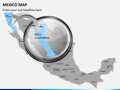 Mexico map PPT slide 13