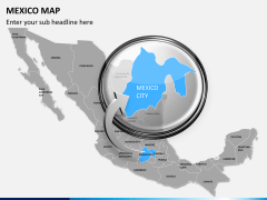 Mexico map PPT slide 16